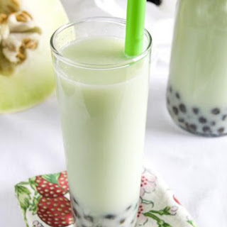 Honeydew Bubble Tea.