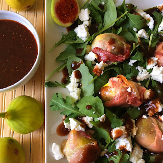 Fig Salad With Goat Cheese And Arugula.