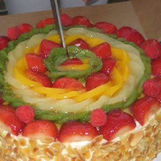 Sponge Cake with Fruited Whipped Cream