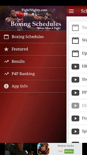 免費下載運動APP|Boxing Schedule by FightNights app開箱文|APP開箱王