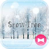 Winter Wallpaper Snow Tree Theme