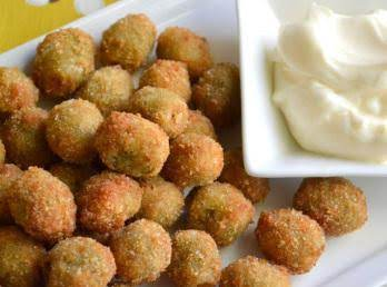Fried Olives With Aoli Dipping Sauce Recipe