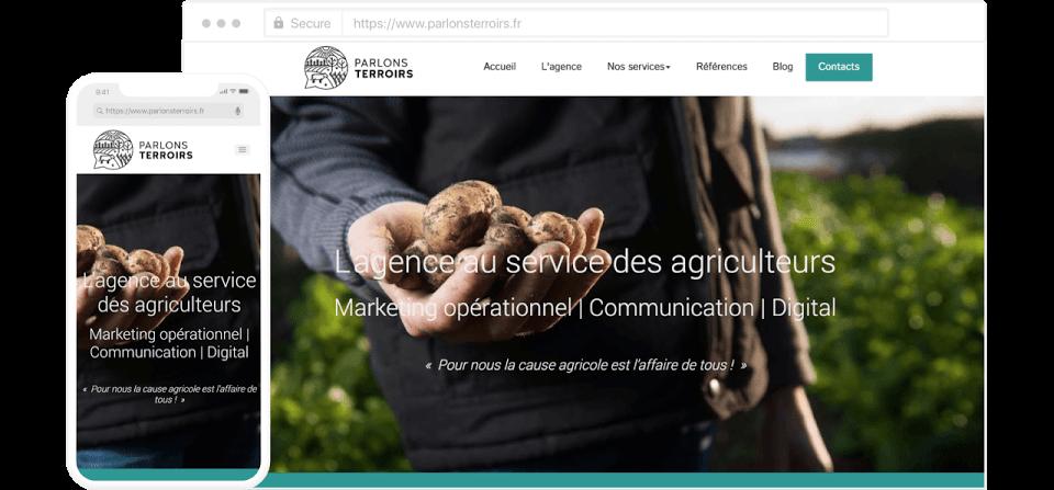 """Site internet créé par """"Parlons terroirs"""""""