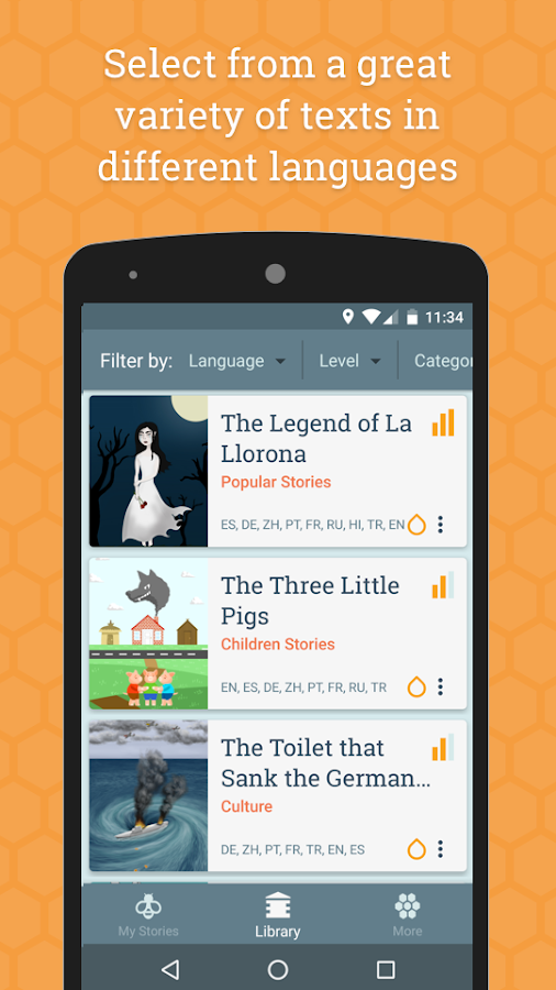 Beelinguapp: Learn Languages- screenshot