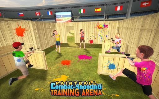 Kids Paintball Combat Shooting Training Arena