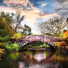 Central Bridge by William Underwood  - City,  Street & Park  City Parks