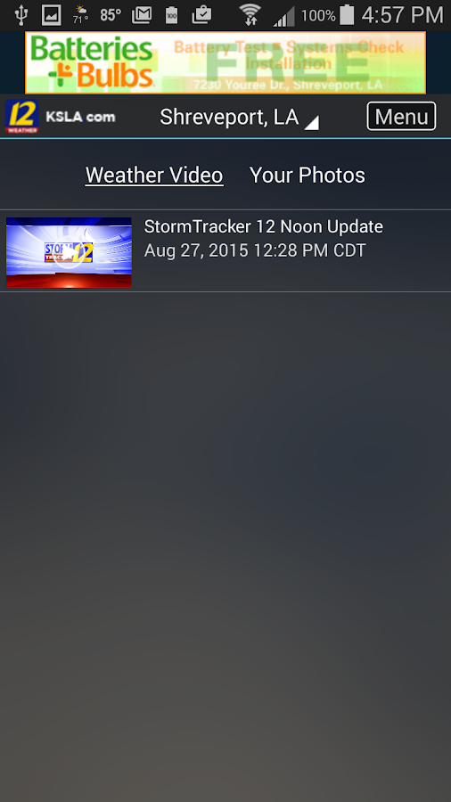 KSLA Stormtracker 12 Weather- screenshot