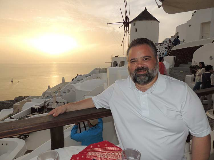 That's me in Santorini after a full day of exploring.