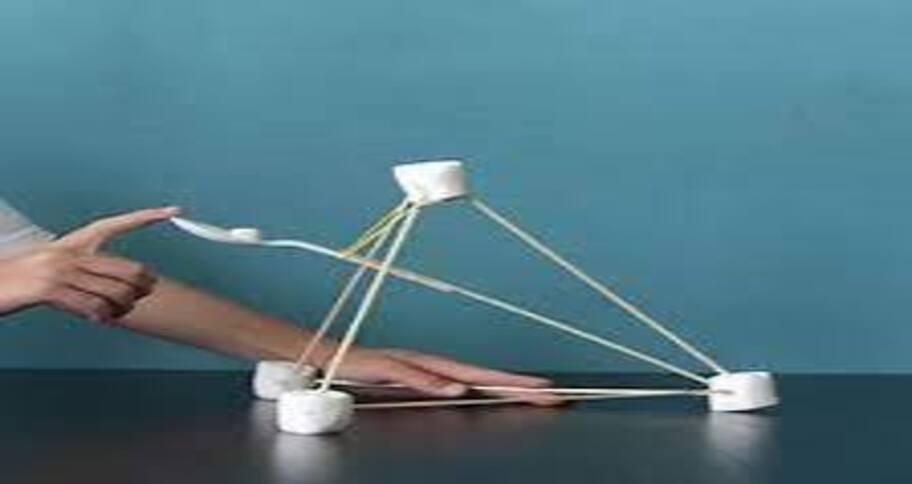 Playing with marshmallow is fun unlike board games