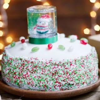 Sparkling Snowfetti Cake