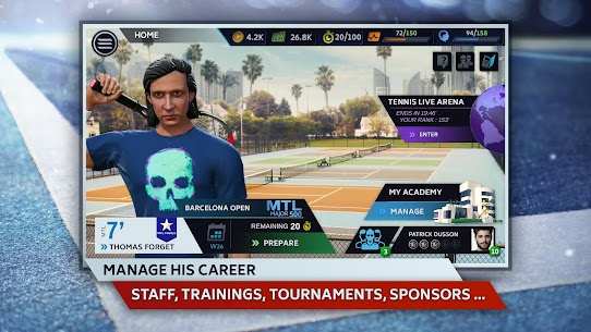 Tennis Manager 2019 MOD Apk 1.15.4356 (Unlimited Money) 3
