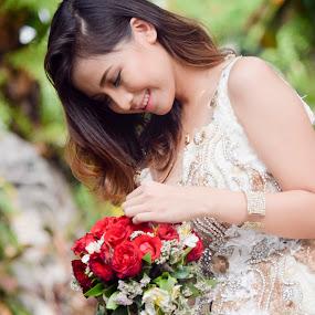 Flower Girl by Dion Besa - Wedding Bride ( fashion, wedding photography, bridal, wedding gown, wedding, bridal portraits, wedding dress, gown, fashion photography, wedding photographer, bride )