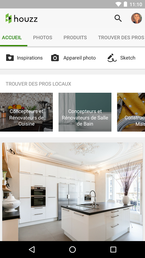 Houzz d co int rieure design applications android sur for Conception cuisine android