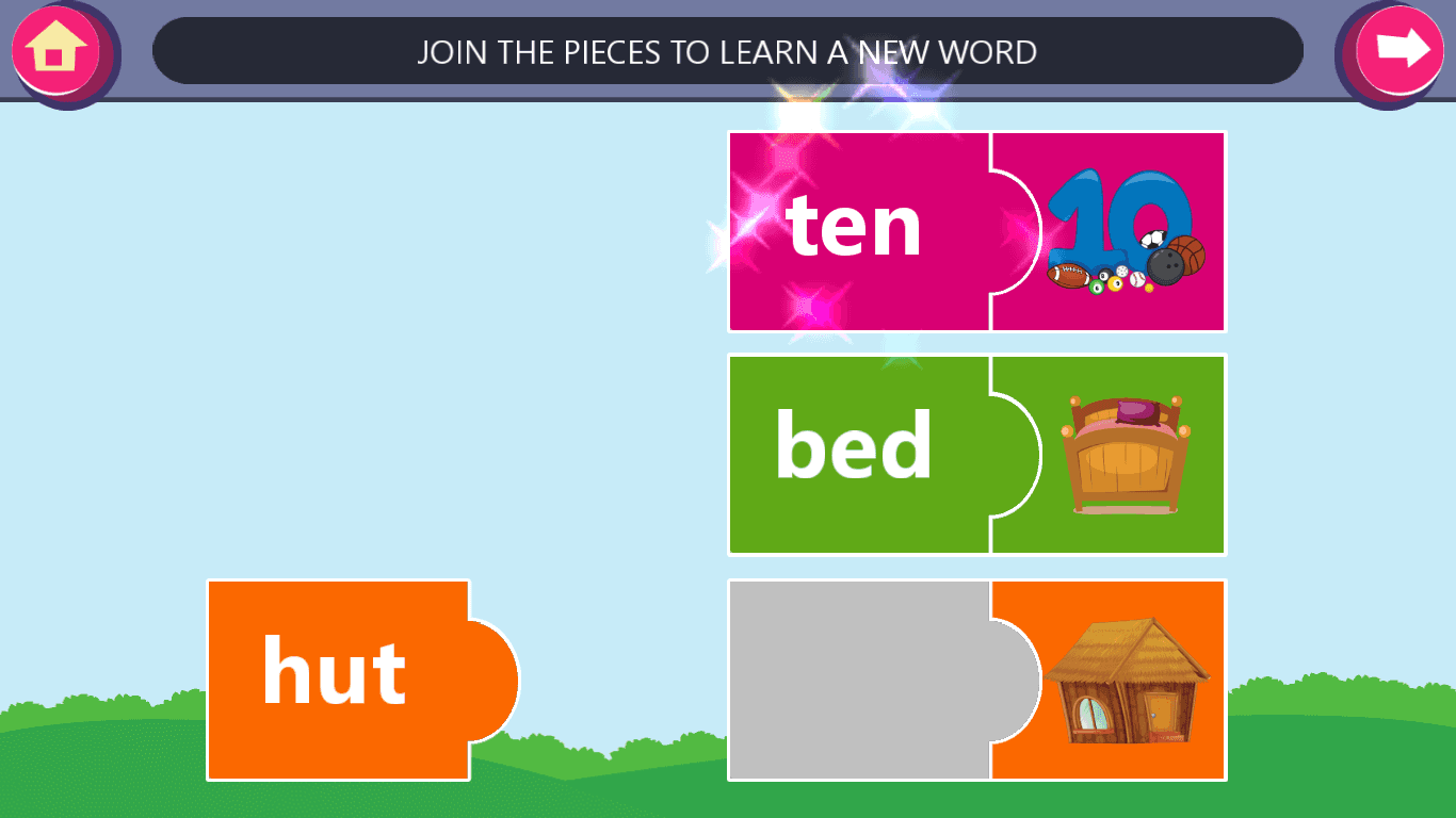 Kindergarten kids Learning English Rhyming Words- screenshot