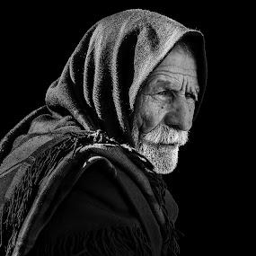 men by Mustafa Tor - Black & White Portraits & People ( white, old man, proud, black, portrait )