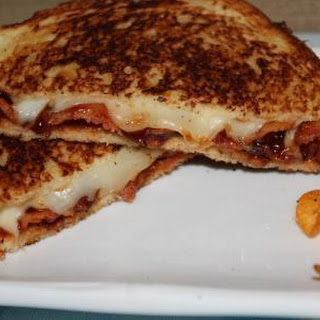 Bacon Bbq Grilled Cheese Sandwich.