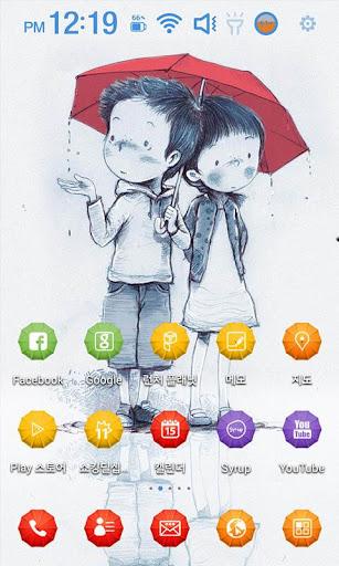 In the Rain Launcher Theme