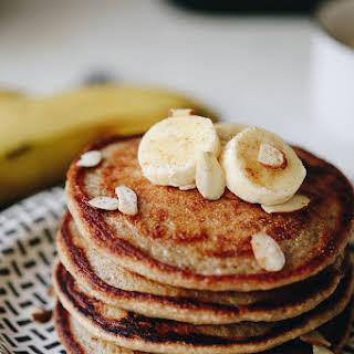 Banana Oatmeal Blender Pancakes.