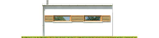 Budynek gospodarczy G41 z wiatą - Elewacja tylna