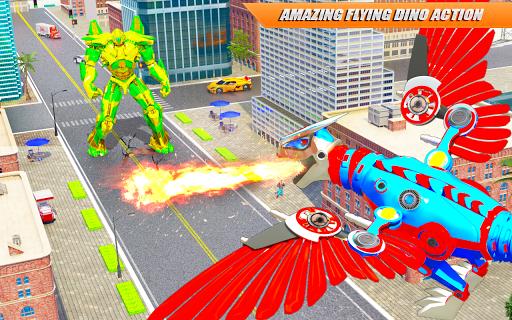 Flying Dino Transform Robot: Dinosaur Robot Games screenshot 6