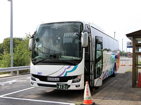 名鉄バス「名神ハイウェイバス京都線」 3901 多賀SAにて
