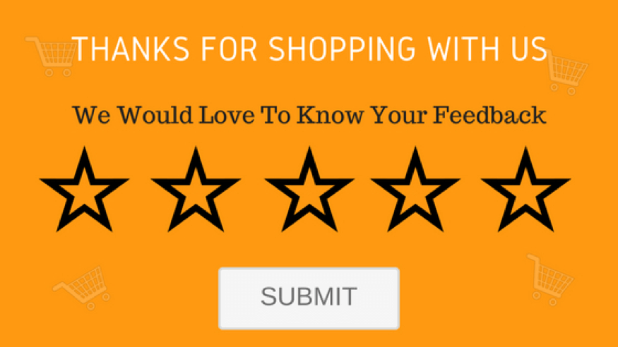 Screenshot of asking for a review post-purchase