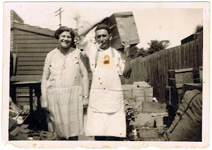 Photo: Rose and David Bookchester, prob at Brunswick Rd, Brunswick (Melb)