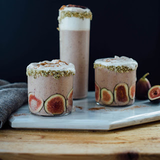 Vanilla Fig Smoothie With Cinnamon Whipped Cream