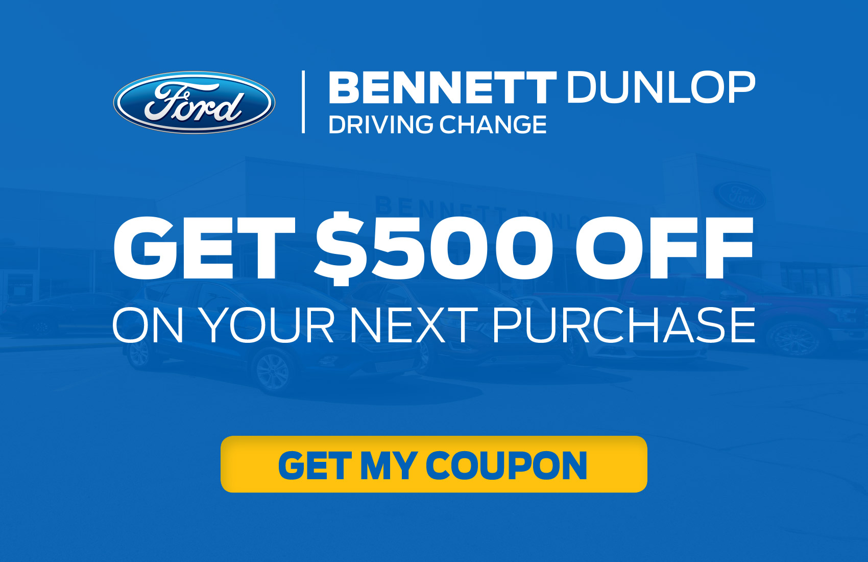 GET YOUR $500 OFF