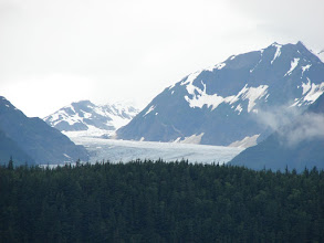 Photo: Davidson Glacier flows out of the Chilkat Mountains.