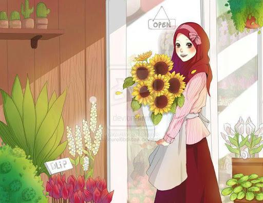 Cute Hijab Cartoon Muslim Hd Wallpaper Apk Download Apkpure Co