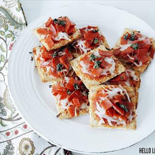 Triscuit Mini Pizzas.