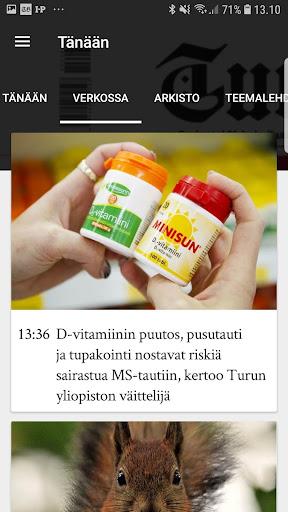 Turun Sanomat näköislehti screenshot 8