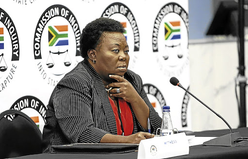 Outing the truth: Acting director-general of the GCIS Phumla Williams testifies at the state capture inquiry last week. She will continue her testimony on Monday. Picture: MASI LOSI/SUNDAY TIMES