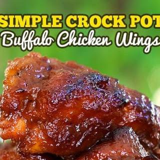 Simple Crock Pot Buffalo Chicken Wings.