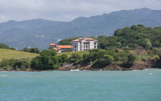 A glimpse of Sandals resort as seen from a passing boat in Grenada.