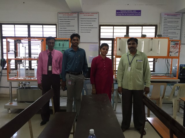 Gayathri with college professors