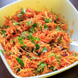 Multicolored Shredded Carrot Salad.