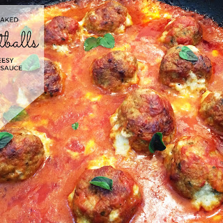 Oven Baked Meatballs in Cheesy Tomato Sauce