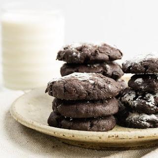 Gooey Chocolate Crinkle Cookies.