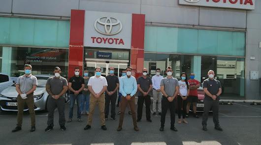 Toyota Alboran se suma al minuto de silencio