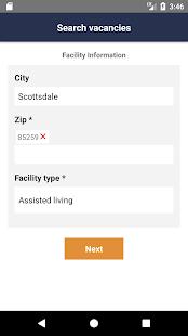Realtime Senior Living Search App - náhled