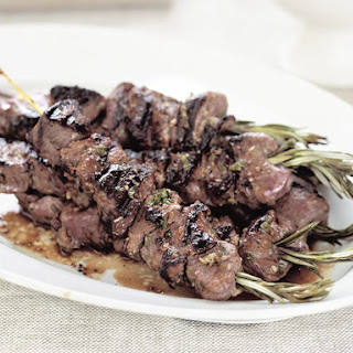 Lamb on Rosemary Skewers with Tzatziki