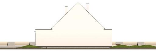 Vivien bliźniak segment B z wykuszem - Elewacja prawa