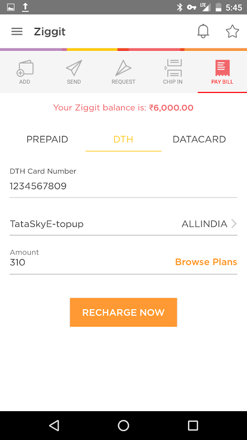 Ziggit : Recharge Shop Chip-in- screenshot