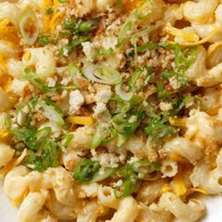 Creamy Cheddar Pasta with Scallion Bread Crumbs