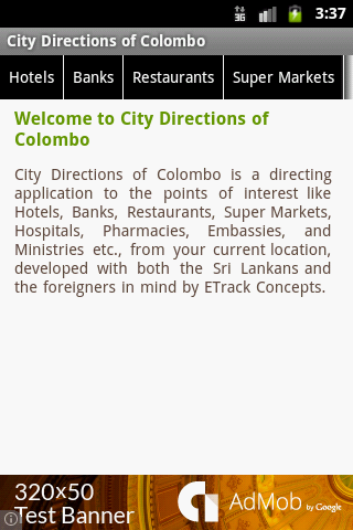 City Directions of Colombo