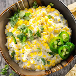 Slow Cooker Sweet Corn and Jalapeno Dip.