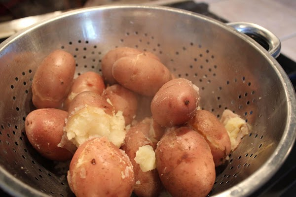 Strain the potatoes really well.