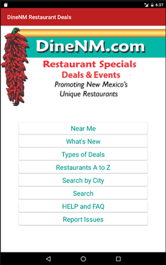 DineNM Restaurant Deals- screenshot